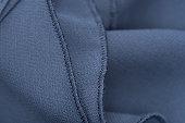 detail of blue dress - frill
