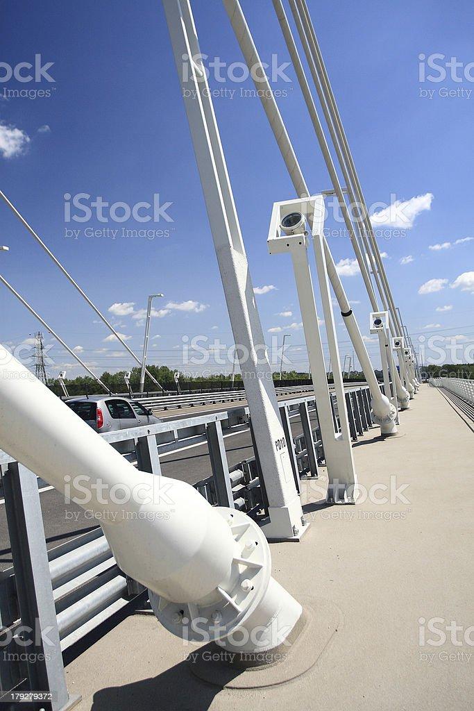 Detail of bridge (Hungary) royalty-free stock photo