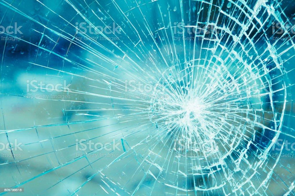 Detalle de cristal quebrado - foto de stock