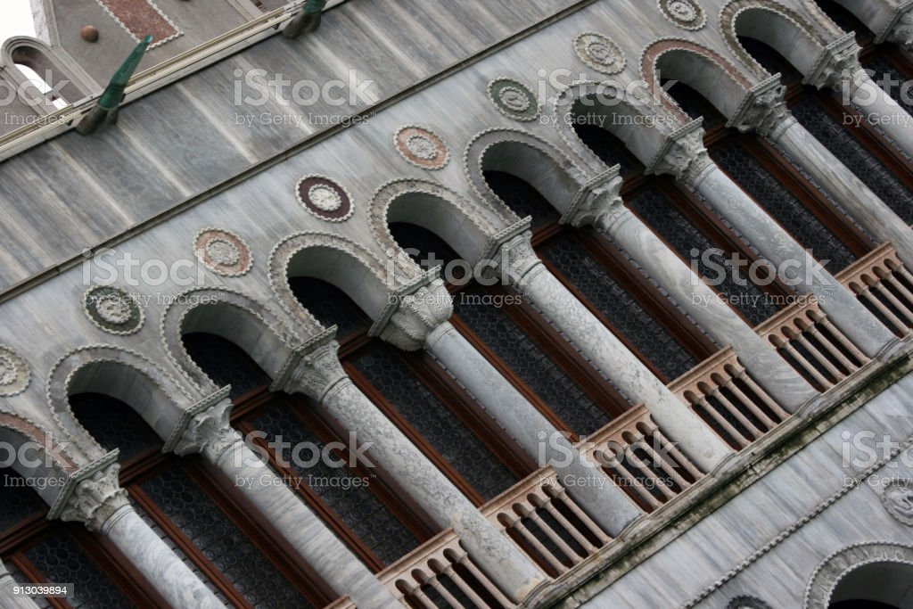 detail of building in Venice - Italy stock photo