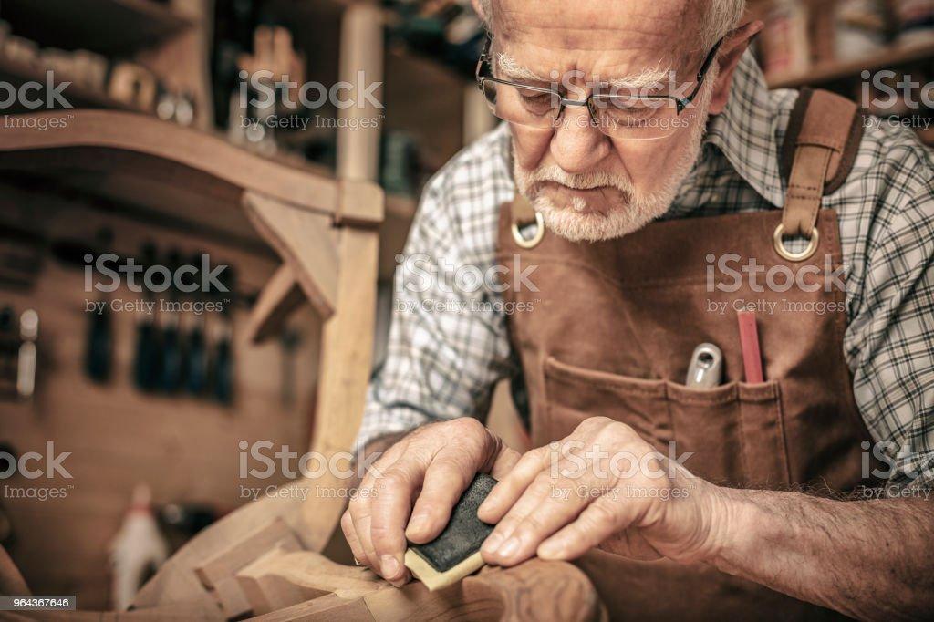 detail van timmerman - Royalty-free Actieve ouderen Stockfoto