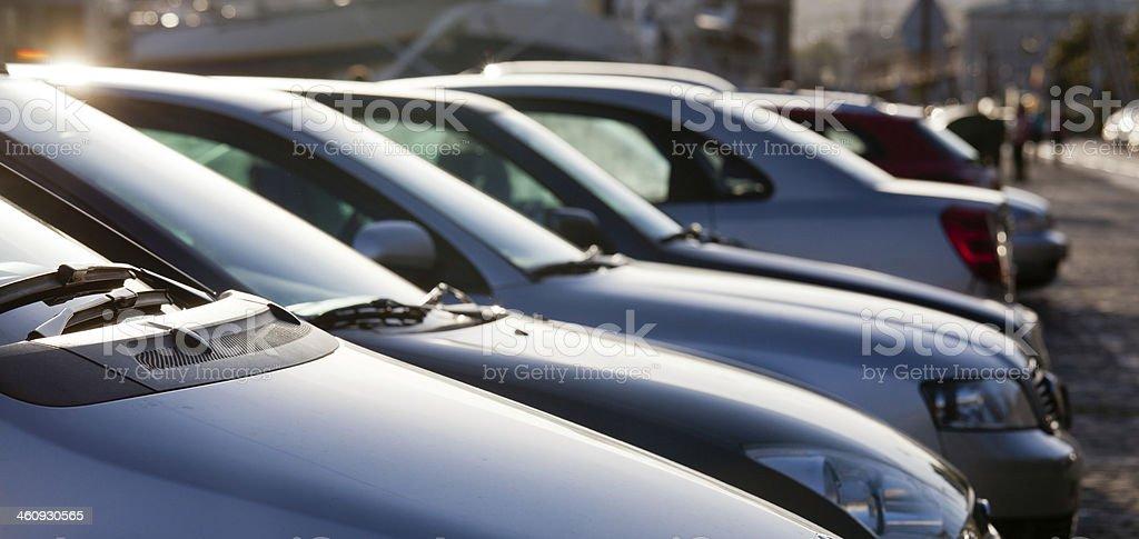 Parken für Autos – Foto