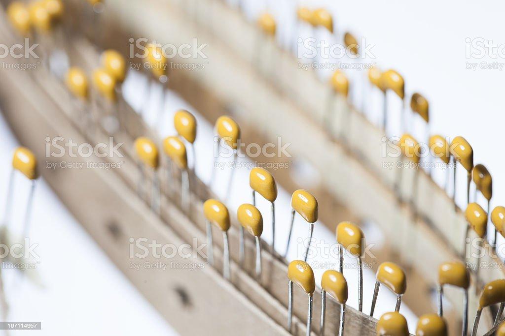 Detail Of Ceramic Capacitors 220PF 50V X7R stock photo