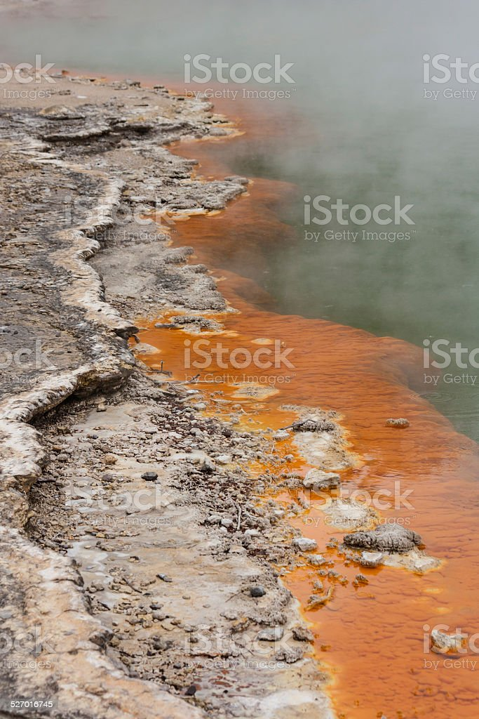 detail of Champagne pool edge stock photo