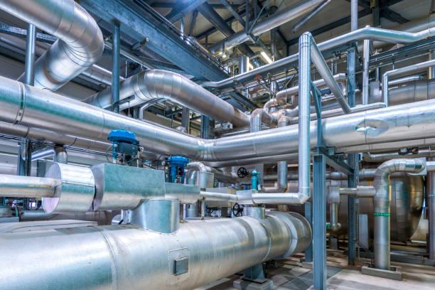 detail of chemical plant - budynek przemysłowy zdjęcia i obrazy z banku zdjęć