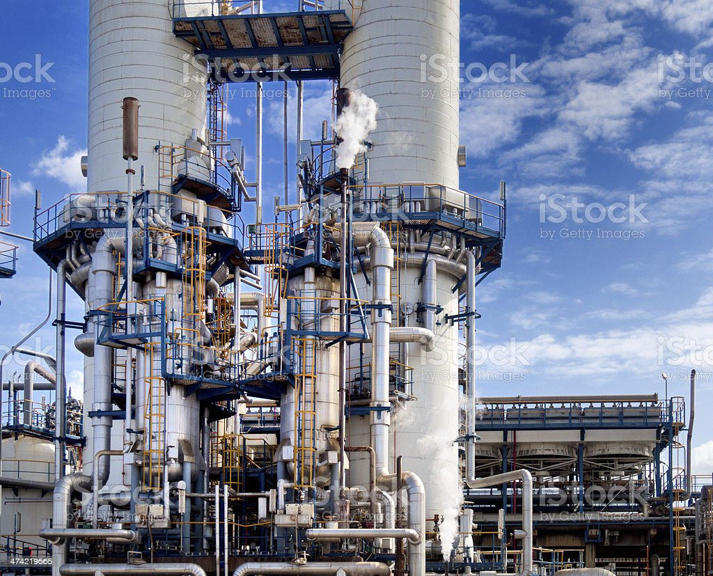 Detail of chemical plant royalty-free stock photo
