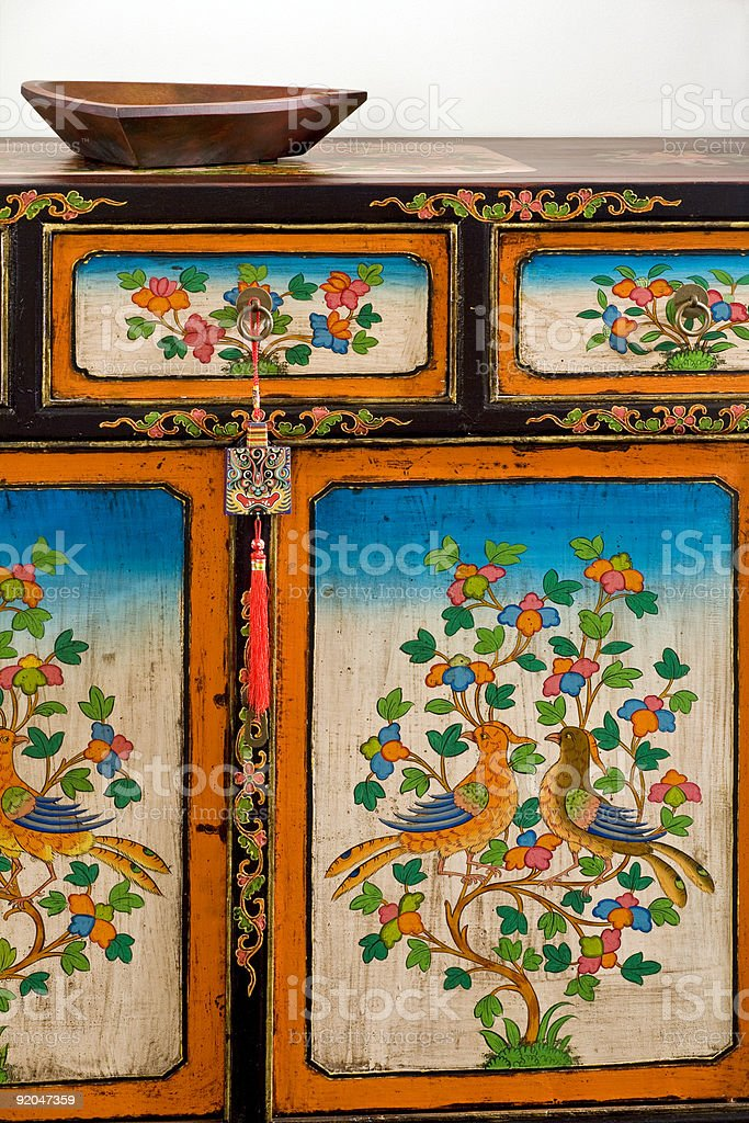 Detail of Chinese Drawer royalty-free stock photo