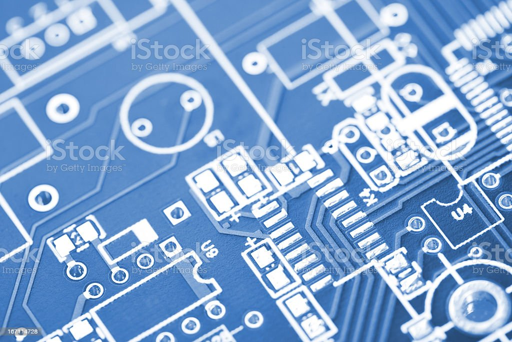 Detail Of Chip Base On Motherboard stock photo