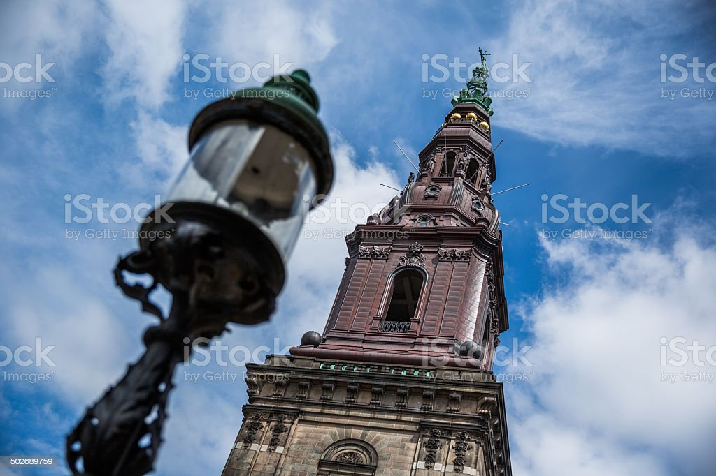 Detail of Christiansborg housing the Danish Parliament, Folketinget in Copenhagen stock photo