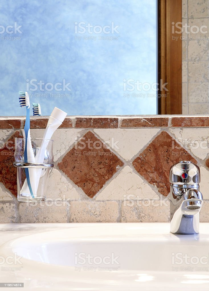 Detail of classic bathroom interior royalty-free stock photo