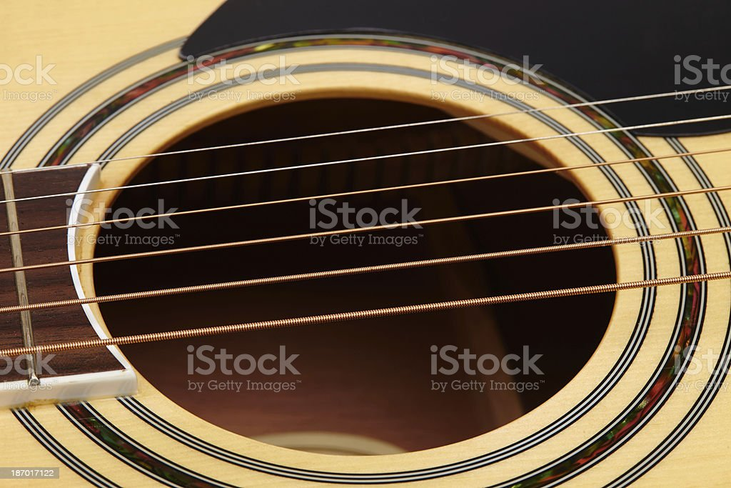 detail of classic guitar string with shallow depth field royalty-free stock photo