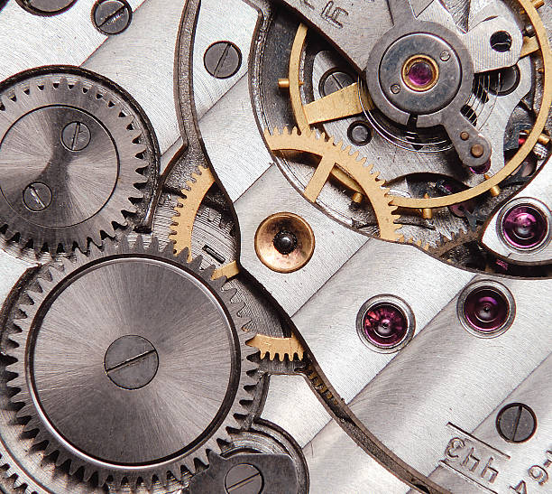 detail of clockwork stock photo