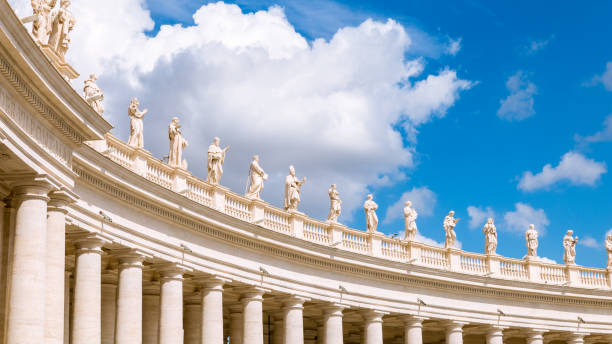 Detail of colonnade stock photo