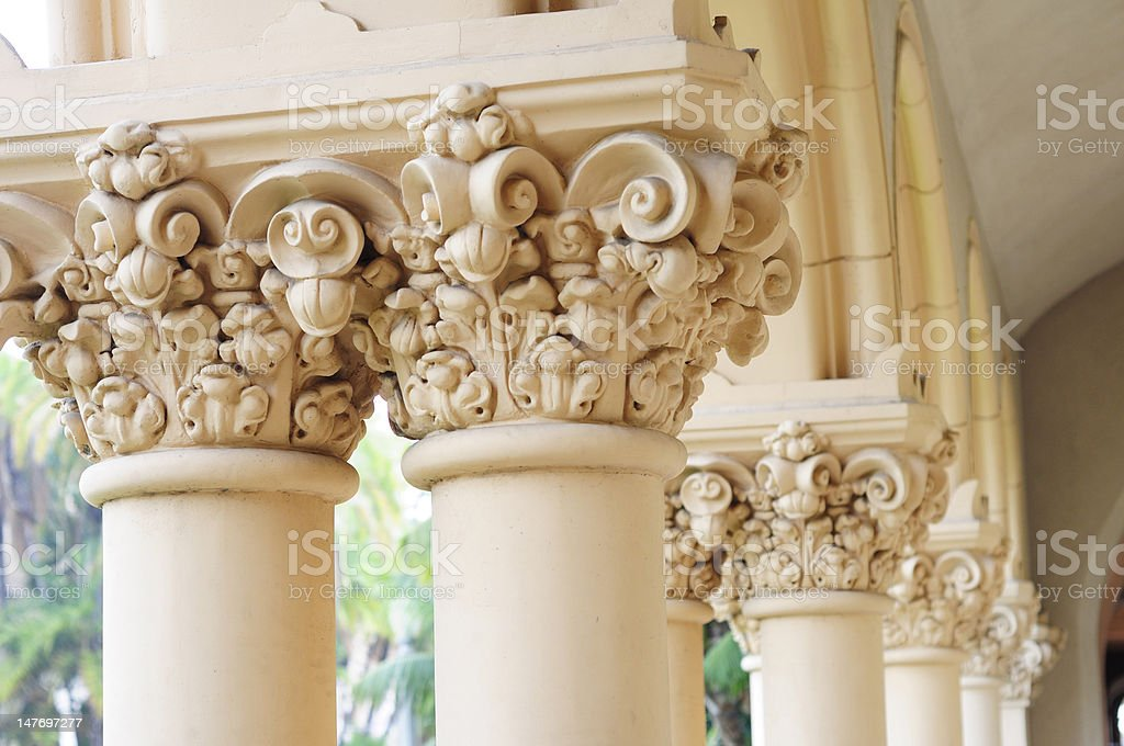 Detail of Columns stock photo