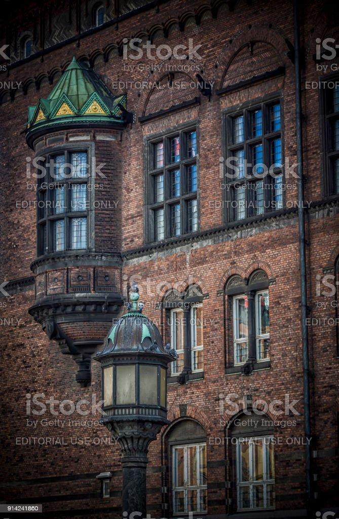 A Detail of Copenhagen City Hall stock photo