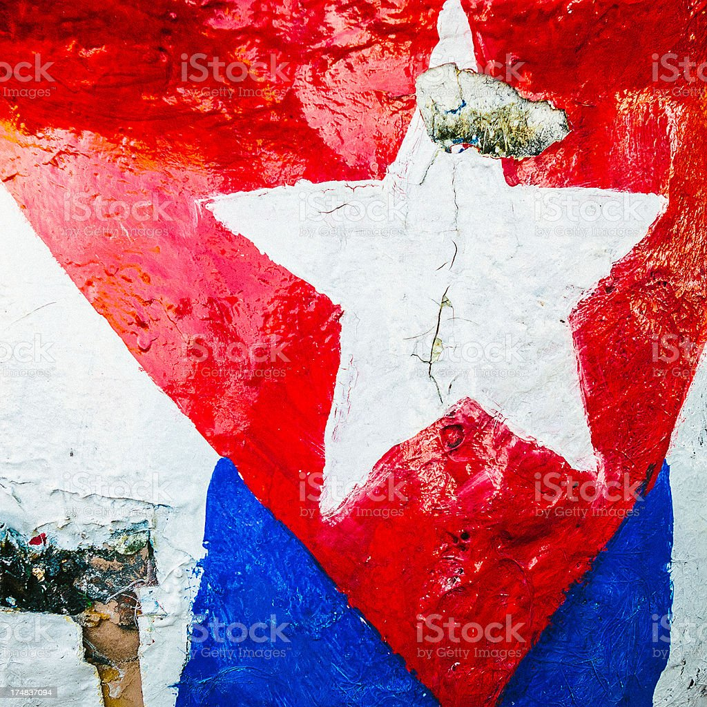 detail of cuban flag stock photo