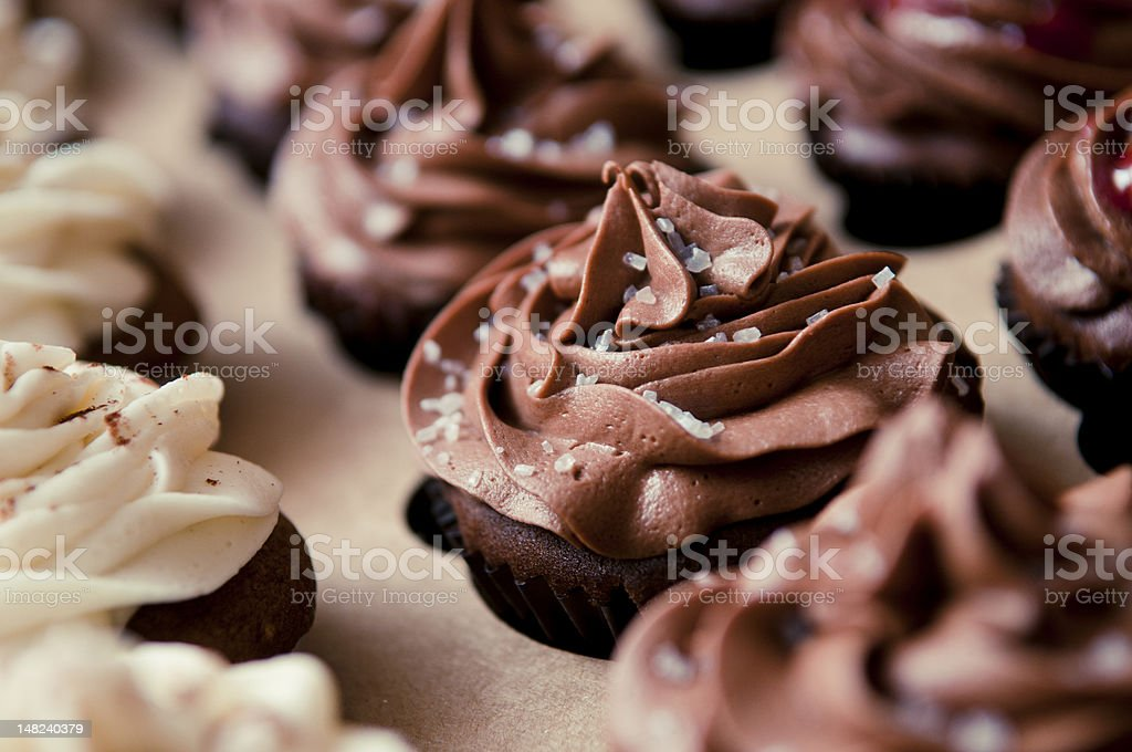 Detail of Cupcakes in packaging stock photo