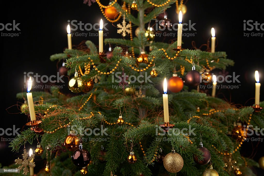 detail of decorated christmastree royalty-free stock photo