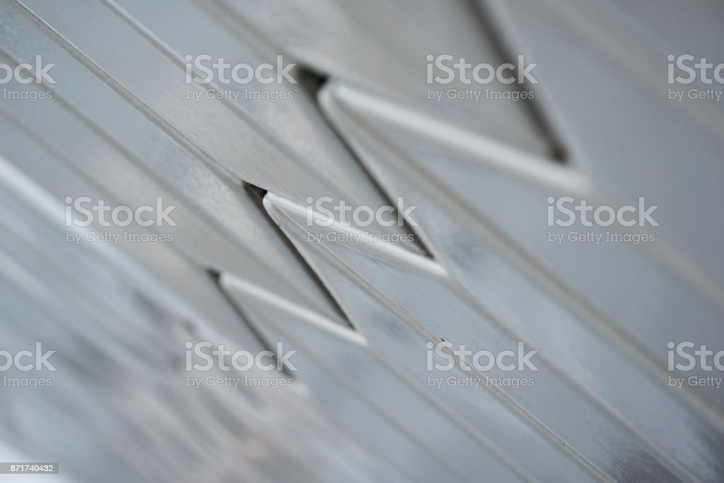 Detail of decorative exterior wall with shallow depth of field stock photo