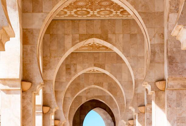 detalj av dekorer av hassan ii-moskén i casablanca morocco - rabat marocko bildbanksfoton och bilder