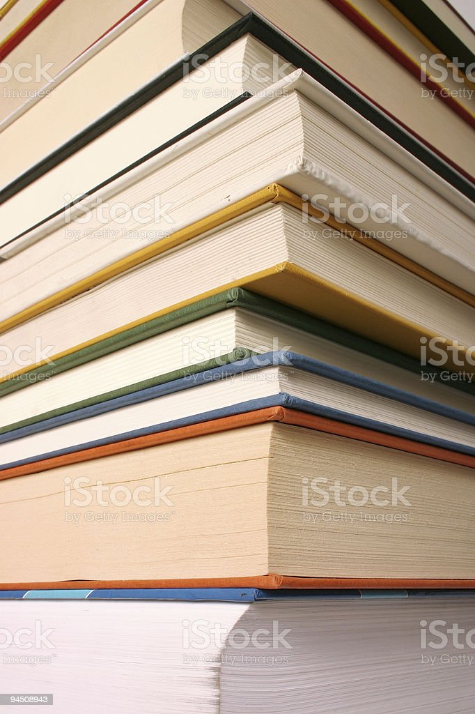 Detail of different books royalty-free stock photo
