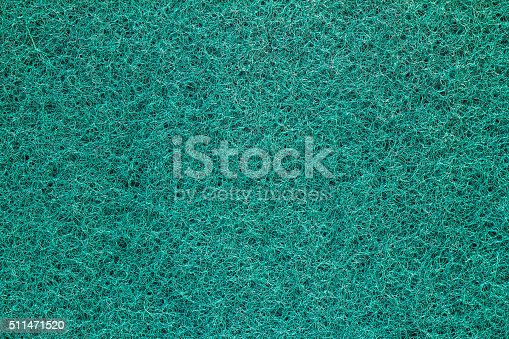 istock Detail of Dishwashing sponge for background. 511471520