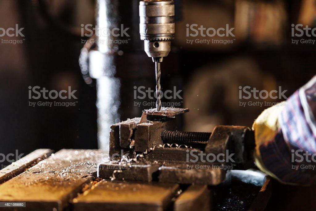 Detail of drill-machine stock photo