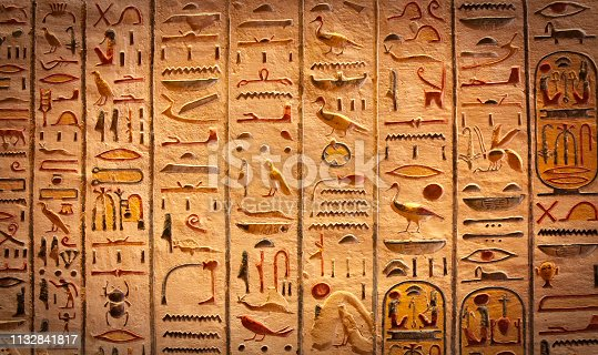 Egyptian hieroglyphs background