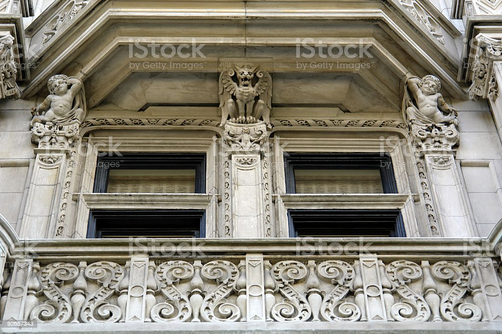 Detail of elaborate mansion royalty-free stock photo