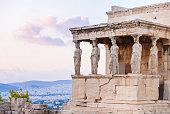 istock Detail of Erechtheion in Acropolis of Athens, Greece 498277300