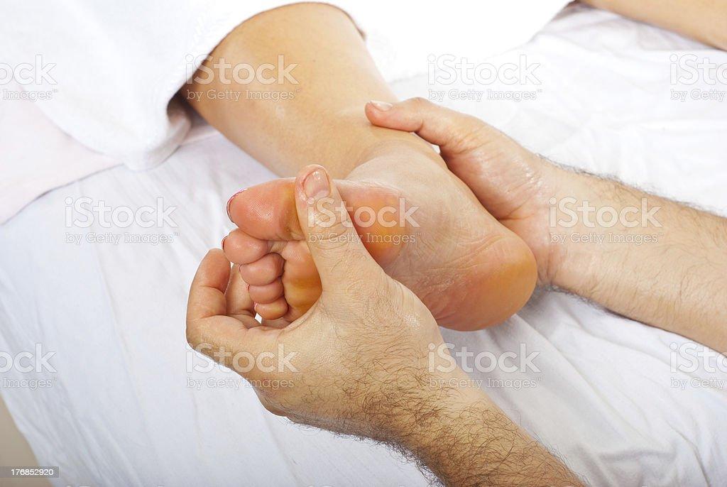 Detail of  feet massage royalty-free stock photo