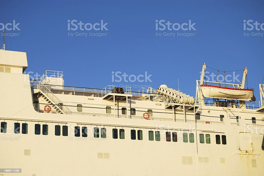 Detail of ferry stock photo