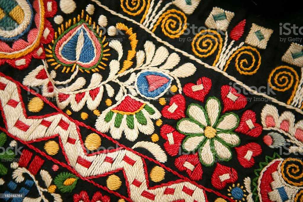 Detail of folk costume royalty-free stock photo