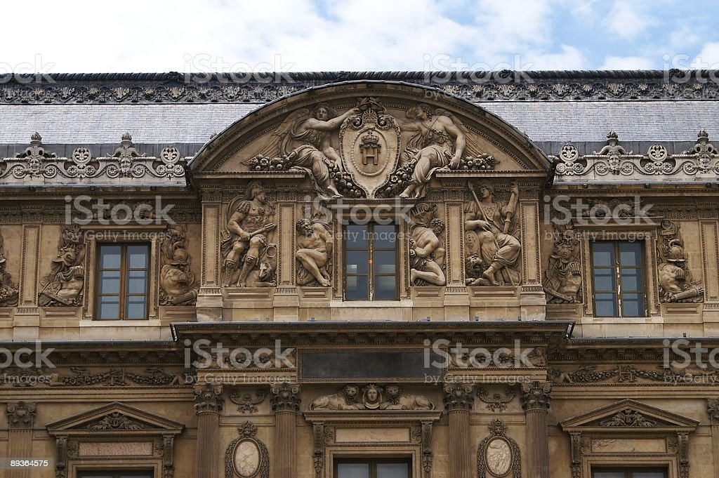 Detail of French Renaissance Building royalty free stockfoto