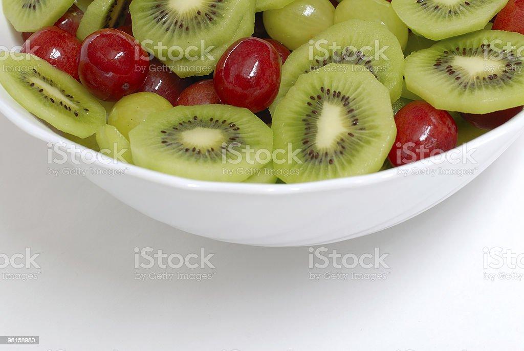 Dettaglio della Macedonia di frutta foto stock royalty-free