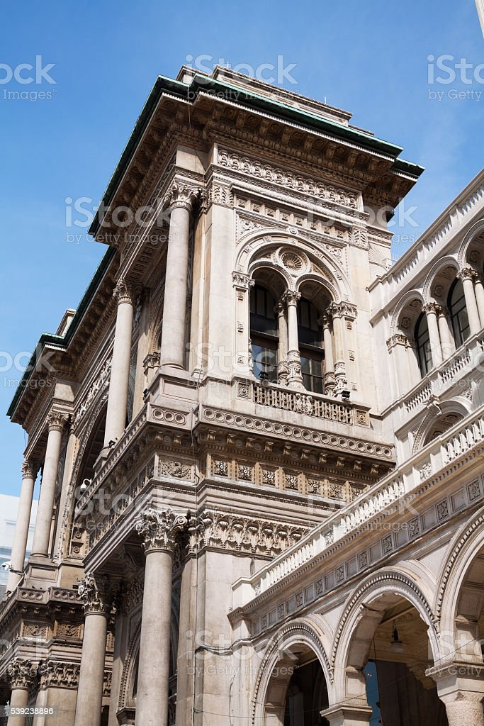 Detail of Galleria Vittorio Emanuele royalty-free stock photo