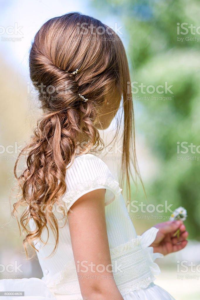 Detail Der Madchen Kommunion Frisur Stockfoto Und Mehr