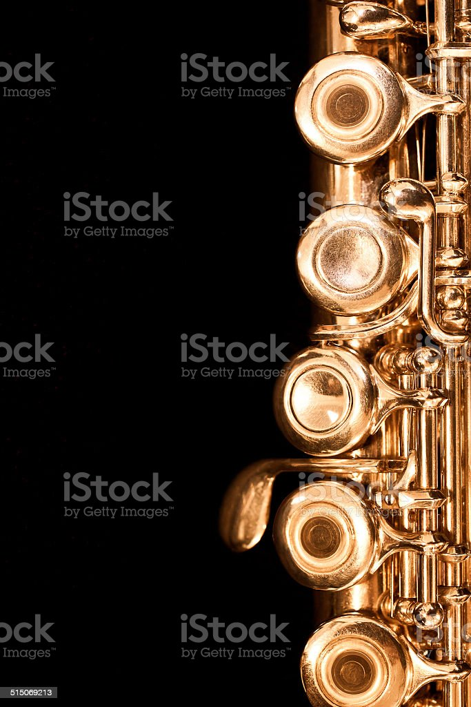 Detail of gold flutes stock photo