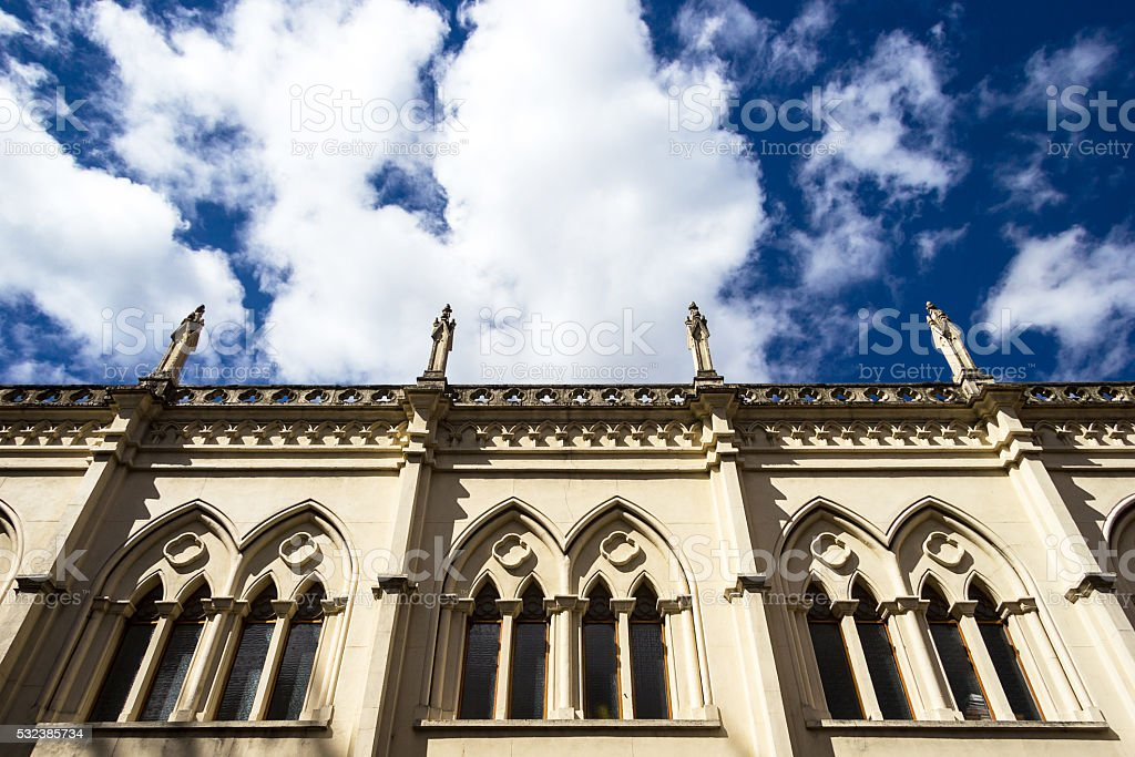 Detail of Gothic Cathedral at Bogota. stock photo
