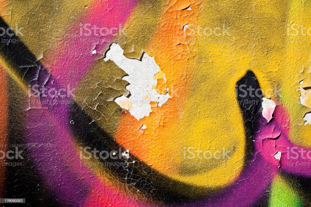 Detail of graffiti. Art or vandalism. royalty-free stock photo