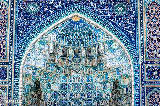 istock Detail of Gur-E Amir Mausoleum, the tomb of the Asian conqueror Tamerlane or Timur, in Samarkand, Uzbekistan 1033084430