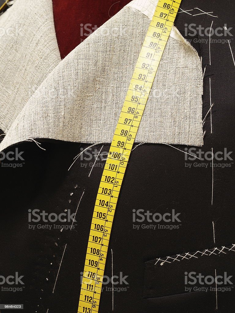 Detail of half made coat royalty-free stock photo