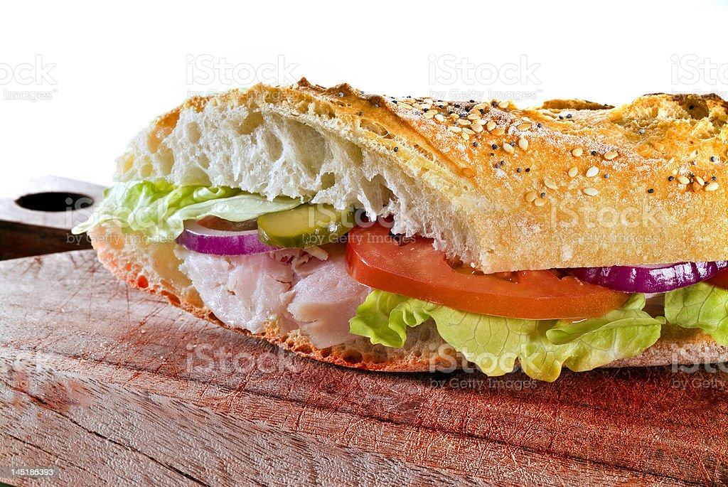 detail of Ham sandwich royalty-free stock photo