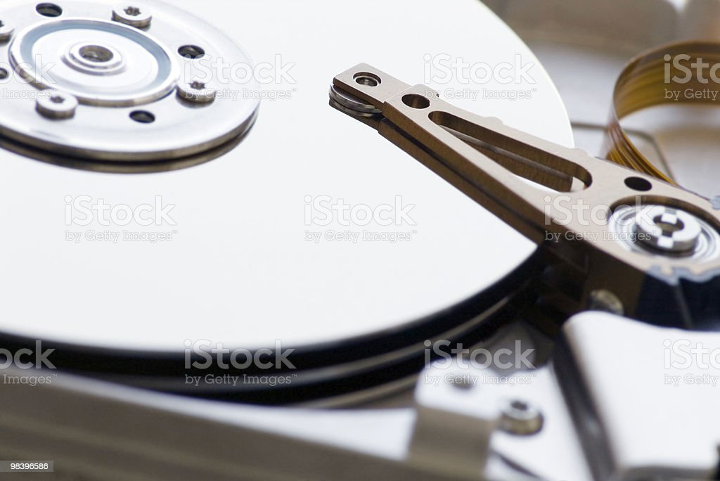detail of hard disk drive royalty-free stock photo