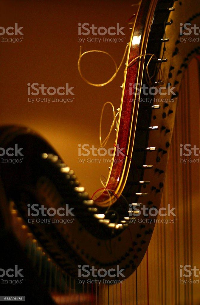 Detail of harp - foto stock