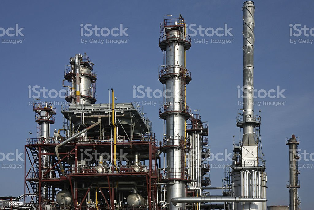 detail of heavy industry chemical factory royalty-free stock photo