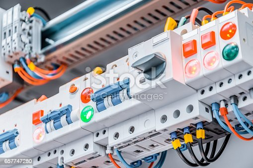 istock Detail of high-voltage panel with bus bars 657747280