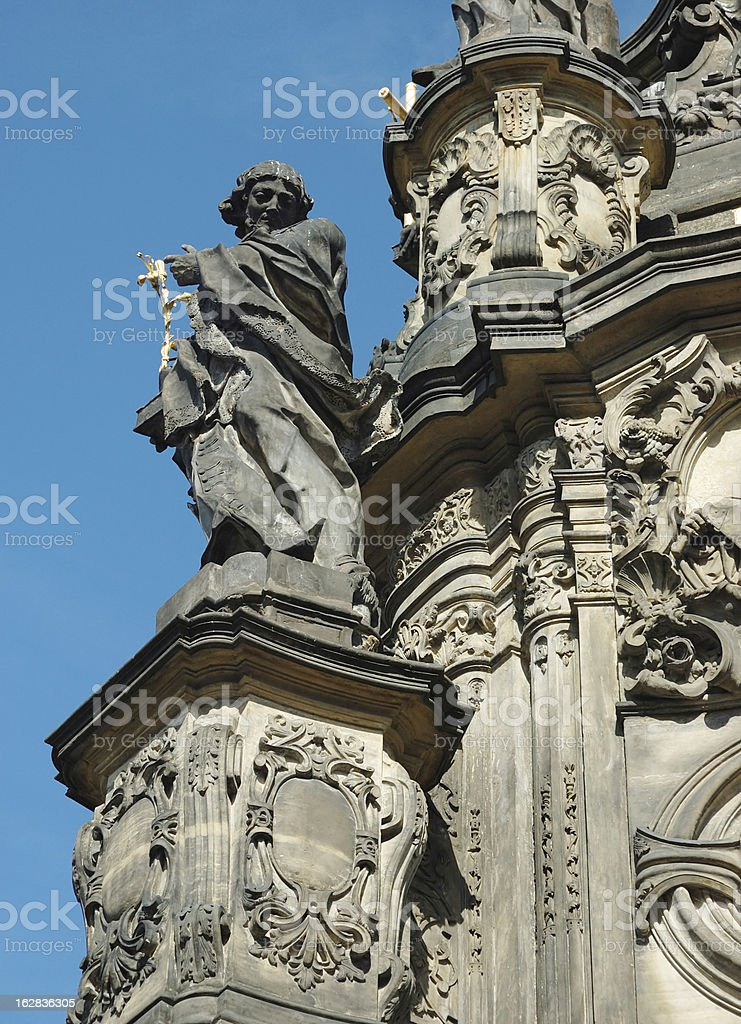 Detail of Holy Trinity Column in Olomouc, Czech Republic royalty-free stock photo