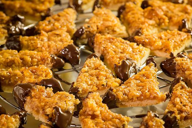 detail der hausgemachte Kekse mit Schokolade-Nuss-Look – Foto