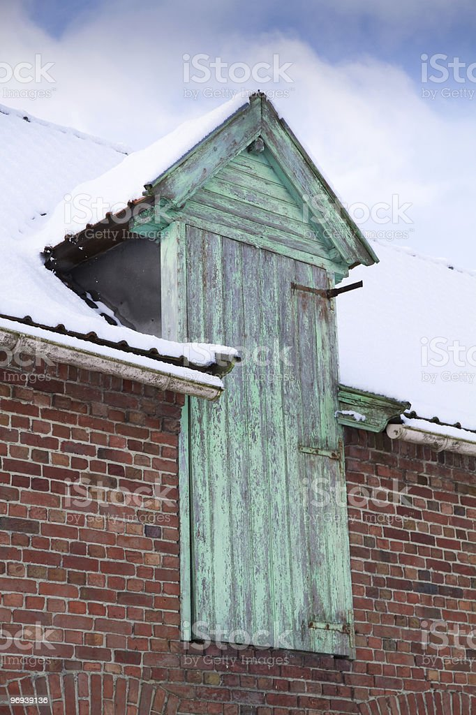 detail of house royalty-free stock photo